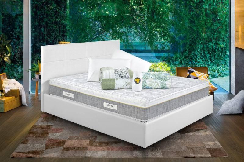 Sano con letto contenitore bianco